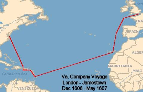 colonial 1 the first english colonies Map Of Voyage From England To Jamestown Map Of Voyage From England To Jamestown #9 map of voyage from england to jamestown
